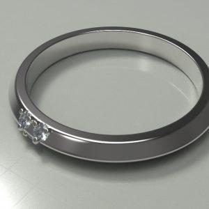 Small Bridge Engagement Ring
